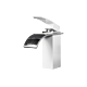 Faucet Waterfall - White and Chrome