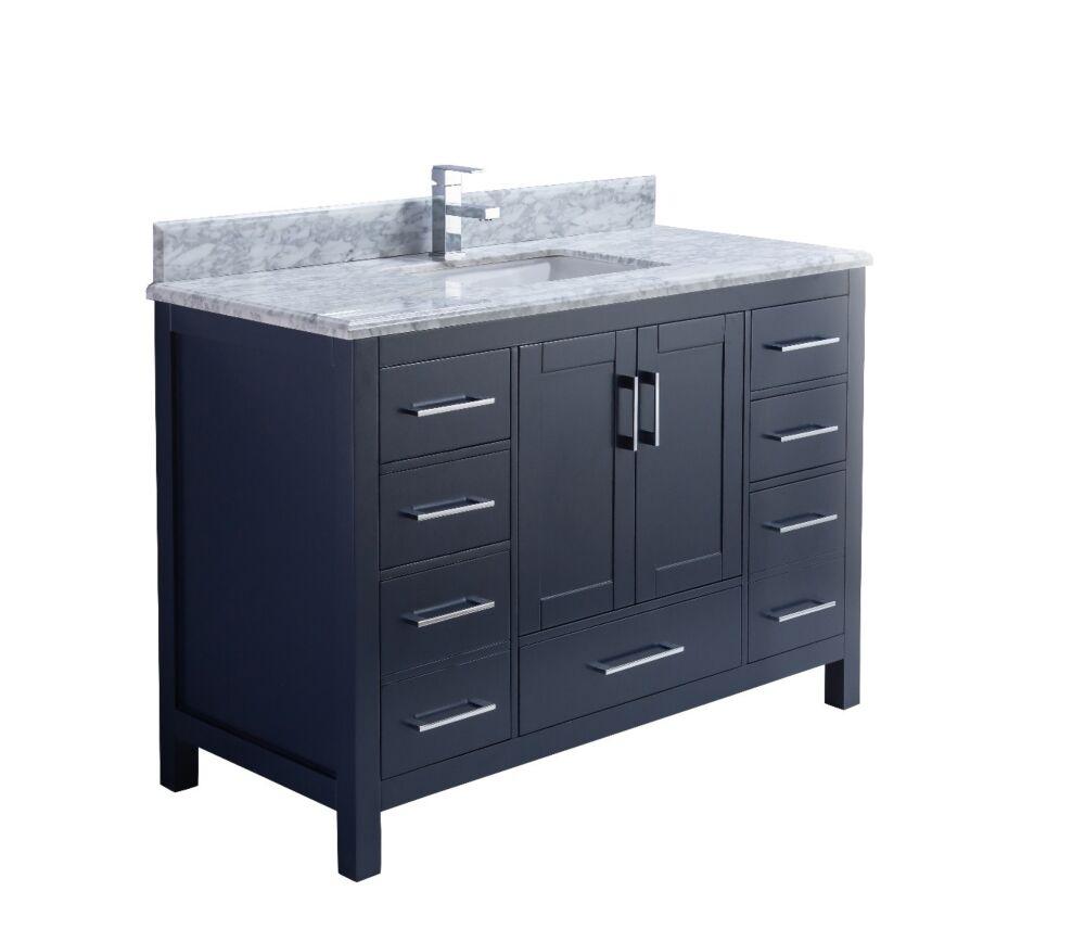 48 Carmela Royal Blue Single Sink Bathroom Vanity