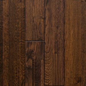 8-inch x 3/4-inch White Oak Solid Finger-Jointed Hardwood Flooring - Aged Whiskey. Front view