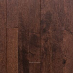 3 1/4-inch x 1/2-inch Canadian Maple Engineered Hardwood Flooring - Walnut. Front view