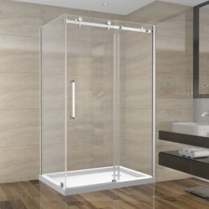 Shower Set 48inch - Square Style - 2 wall setup without base (48