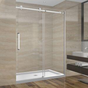 Ensemble de douche 60 pouces sans base - 3 murs - style carré