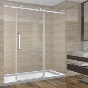 Ensemble de douche 72 pouces sans base - 3 murs - style carré