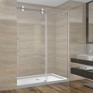 Ensemble de douche 60 pouces sans base - 3 murs - style rond