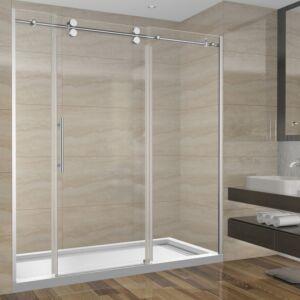 Ensemble de douche 72 pouces sans base - 3 murs - style rond