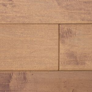 6-inch x 3/4-inch Canadian Maple Solid Hand-Scraped Hardwood Flooring - Sahara. Front view